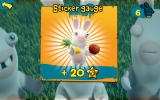 Rabbids Appisodes Android The sticker gauge is filled.