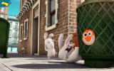 Rabbids Appisodes Android A rabbid bumps into a garbage can.