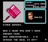 Wall Street Kid NES I wasn't able to raise a million dollars by the due date