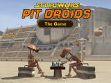 Star Wars: Pit Droids Windows The main menu (all the droids and the objects in these menus are fully animated)
