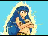 Urusei Yatsura: Dear My Friends SEGA CD Opening cinematic, Lum sees Ataru and gets ready to shock him!