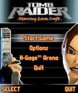 Tomb Raider N-Gage Main menu.