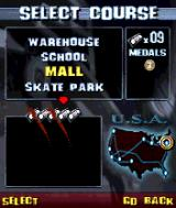 Tony Hawk's Pro Skater N-Gage Select a stage and see how many challenges are available.