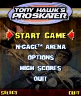 Tony Hawk's Pro Skater N-Gage Main menu.
