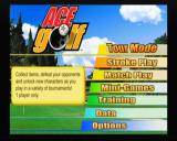 Swingerz Golf GameCube Main menu screen