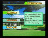 Swingerz Golf GameCube Mini-games selection screen