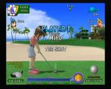 Swingerz Golf GameCube Miho prepping for her first swing