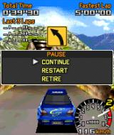 Sega Rally Championship N-Gage During the race (paused).