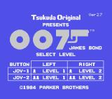 James Bond 007 SG-1000 Title Screen