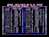 Playball III MSX Select which team member should start