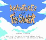 Adventures of Tom Sawyer NES Game title screen