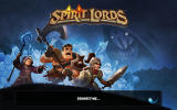 Spirit Lords Android Title screen: connecting to the server.