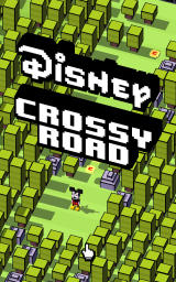 Disney Crossy Road Android The title screen and start of a session, playing as Mickey.