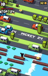 Disney Crossy Road Android A classic <i>Frogger</i> sequence