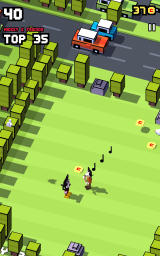 Disney Crossy Road Android Some characters can be unlocked simply by bumping into them.