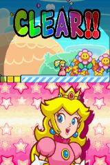 Super Princess Peach Nintendo DS Level cleared.