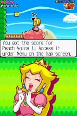 Super Princess Peach Nintendo DS Peach found a music score.