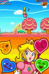 Super Princess Peach Nintendo DS Peach is happy and she can float.