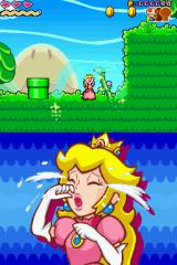 Super Princess Peach Nintendo DS Peach can cry so her tears can spray the plants and make it grow.