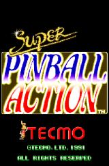 Super Pinball Action Arcade Title screen