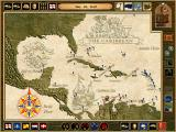 Cutthroats: Terror on the High Seas Windows One of the nicer graphics - the Caribbean map