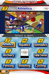 Mario & Sonic at the Olympic Games Nintendo DS Choose event.