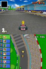 Mario Kart DS Nintendo DS Peach in first place.