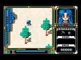 Fray in Magical Adventure MSX walking around