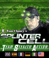 Tom Clancy's Splinter Cell N-Gage Language selection and title screen.