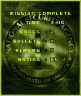 Tom Clancy's Splinter Cell N-Gage My results. Less detailed and more forgiving than PC/Console game.