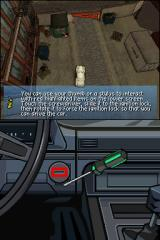 Grand Theft Auto: Chinatown Wars Nintendo DS Once you're inside the car, you can use the touch screen to ignite the car.