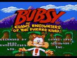 Bubsy in: Claws Encounters of the Furred Kind Genesis Title Screen