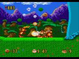Bubsy in: Claws Encounters of the Furred Kind Genesis Attacked by two enemies
