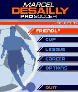 Marcel Desailly Pro Soccer N-Gage Main menu.