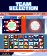 Marcel Desailly Pro Soccer N-Gage Select a team from a list of fictional names.