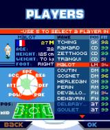 Marcel Desailly Pro Soccer N-Gage The players, their stats and conditions.