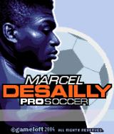 Marcel Desailly Pro Soccer N-Gage Title screen.