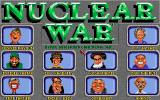 Nuclear War DOS Title Screen
