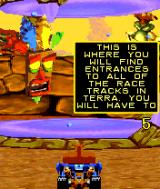 Crash Nitro Kart N-Gage You can choose one of the portals to different races on the global map.