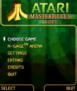 Atari Masterpieces Vol. II N-Gage Main menu.
