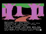 Colossal Adventure MSX start of game