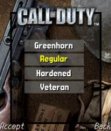 Call of Duty N-Gage Four difficulty levels - just as in PC game.