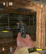Call of Duty N-Gage Shooting Nazis in their own bunker.