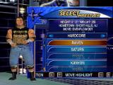 WCW Mayhem Nintendo 64 Selecting a wrestler