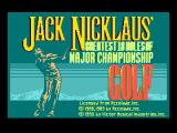 Jack Nicklaus' Greatest 18 Holes of Major Championship Golf MSX Title screen