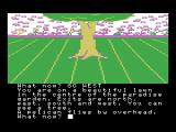 The Worm in Paradise MSX A tree, with an apple out of reach