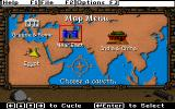 Super Solvers: Challenge of the Ancient Empires! DOS Map Menu --Choose you cavern!