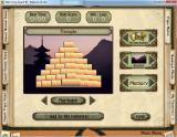 Mah Jong Quest III: Balance of Life Windows Freeplay mode: Setting up a game.<br>Here a Triple Match game using the Temple pattern has been selected. The player can now select their preferred tile set, background, and  game mode