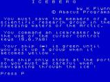 Games Pack 1 ZX Spectrum 1. Iceberg: Instructions 1.<br>