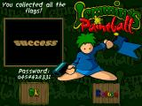 Lemmings Paintball Windows Level succeeded